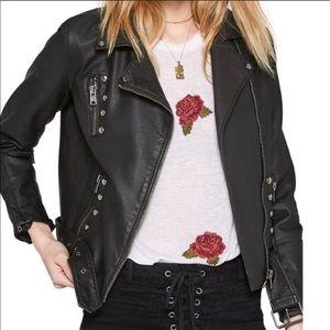 Amuse society faux leather jacket